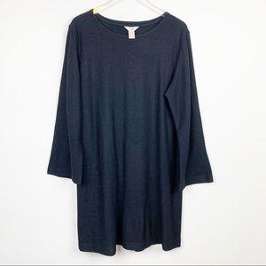 J. Jill | Black 100% Wool Knit Dress Petite